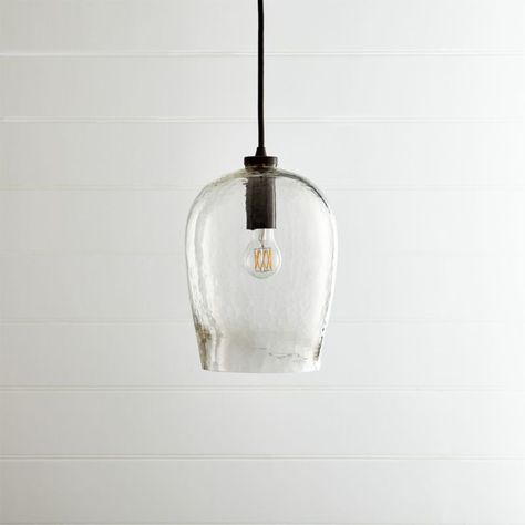 Bell Hammered Gl Pendant Light