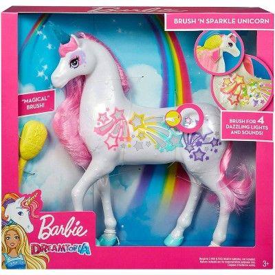 Barbie Dreamtopia Brush n Sparkle Unicorn Kid Toy Gift