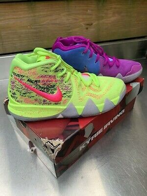 Youth Nike Kyrie 4 Confetti Size 6 In 2020 Blue Basketball Shoes Nike Kyrie Maroon Nike