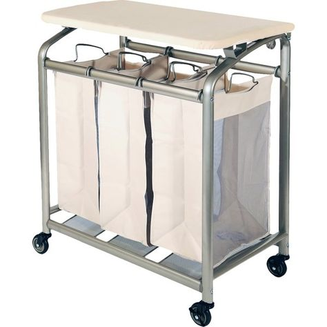 Keep Your Lights Darks Delicates And Linens Separate With This 3 Bag Laundry Hamper Sorter Cart With Laundry Sorter Folding Laundry Laundry Hamper