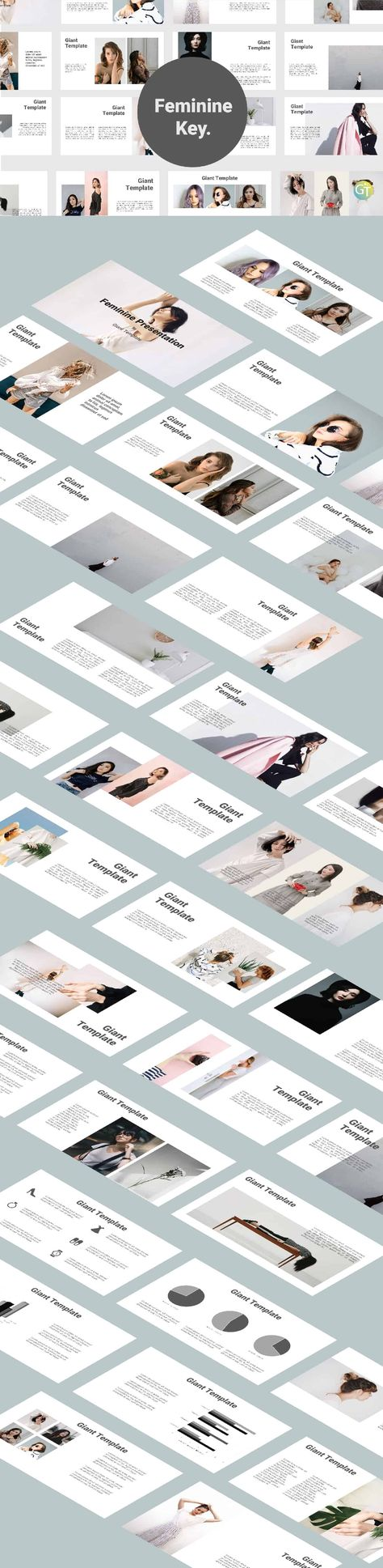 Feminine Free Downloads Keynote Templates