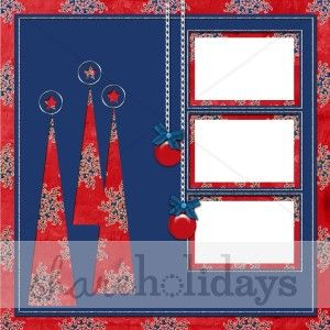 scrapbook layouts christmas | Red Trees Scrapbook Layout | Christmas Scrapbooking