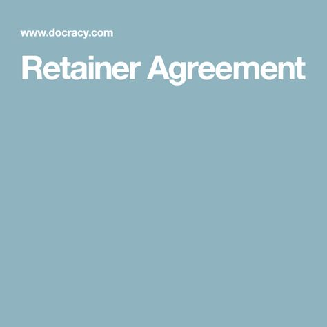 25+ ide Retainer agreement terbaik di Pinterest Branding, Ide - consulting retainer agreement