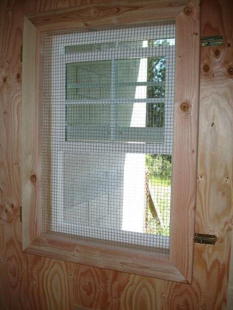 landscape or hardware cloth over windows and framed out