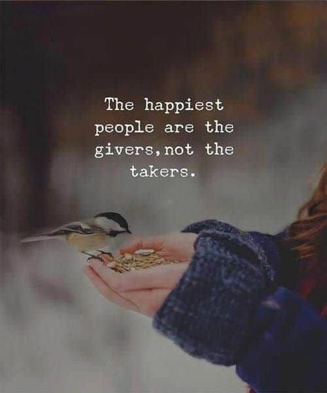 Happy people give... Giving creates happiness and joy within, not just for the receiver - even more so for the giver. #happiness #happinessquotes #giveback