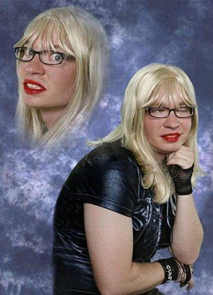 Now THAT is a glamour shot.  Poor girl/boy?