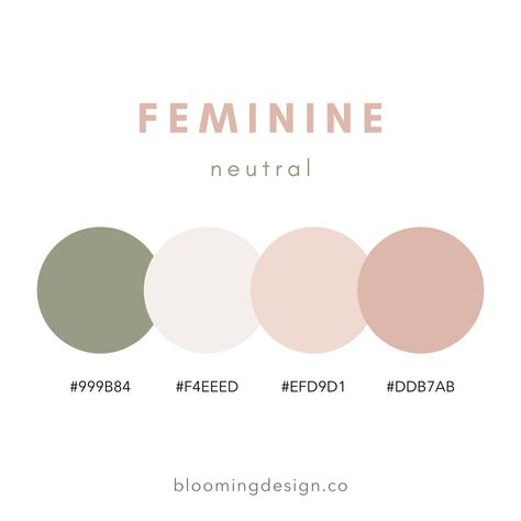 Neutral Feminine Color Palette