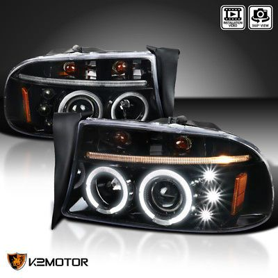 Dodge Dakota Led Crystal Headlights Black Tail Brake Lamps Dodge Dakota Dakota Truck Crystals