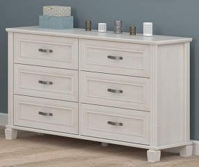 Ameriwood Magnolia Oak White 6 Drawer Dresser White 6 Drawer