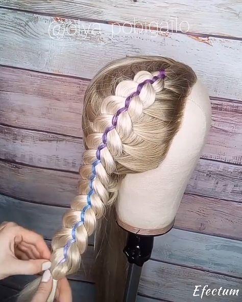 """braid tutorial videos -  💰Use code """"PIN"""" to save 50% OFF $$ 🎬 Quick tutorial 🎬 @olya_pobigailo Love this braids - #braid #cosastumblr #iphonetumblr #littletattooideas #peinadostumblr #skulltattoo #tumblramigas #tumblrparejas #tutorial #unusualtattoos #videos"""