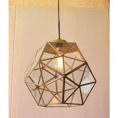 Ribbed Recycled Glass Pendant Shades Of Light Gold Pendant