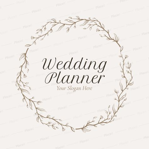 Wedding Planner Logo Maker with Leaf Icons