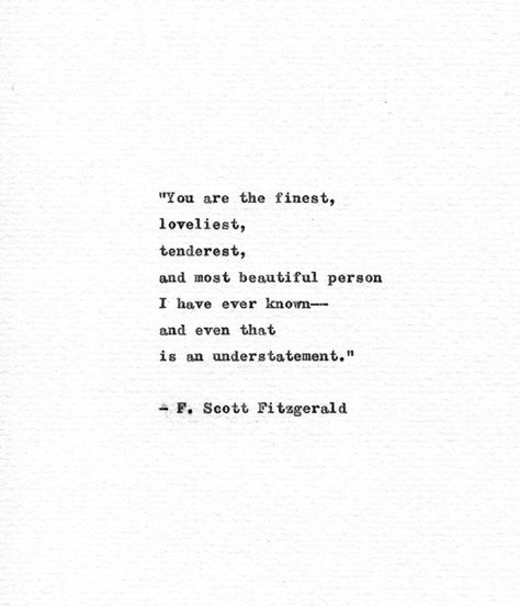 F. Scott Fitzgerald Typewriter Quote 'You are the   Etsy