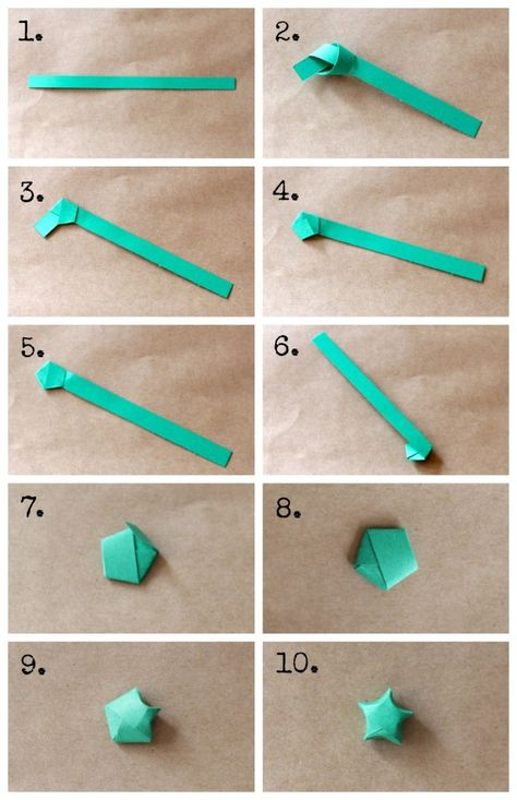 DIY Origami star garland - how to make origami stars from www. Design Origami, Instruções Origami, Origami Simple, Cute Origami, Origami Envelope, Origami Ball, How To Make Origami, Paper Crafts Origami, Useful Origami