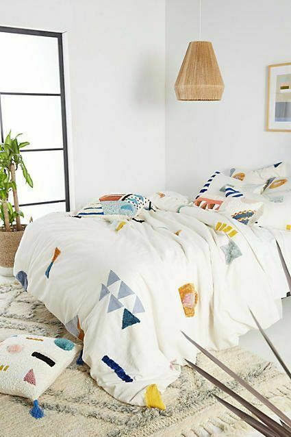 New Anthropologie Geo Embellised Duvet Cover Queen 92 X 96 Anthropologie Retro Home Retro Home Decor