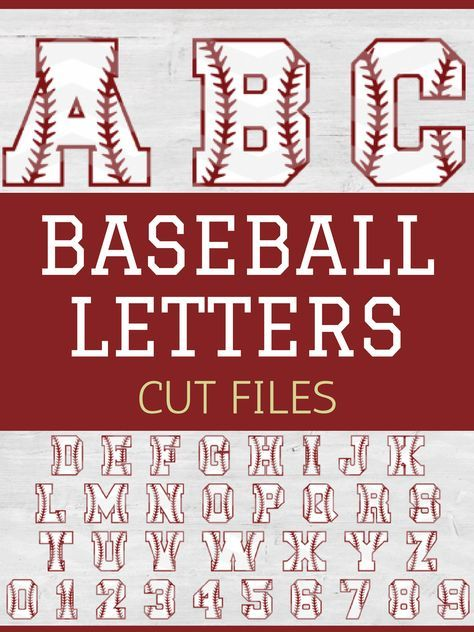 These baseball/softball letter cut files are great for banners, signs, or cute sports crafts for the kids. Baseball Letters, Baseball Signs, Baseball Stuff, Baseball Videos, Baseball Wall, Sports Signs, Sports Baseball, Baseball Field, Softball Crafts
