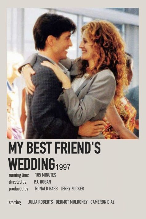My Best Friend S Wedding By Isabella In 2020 Film Posters Minimalist Movie Posters Minimalist Iconic Movie Posters