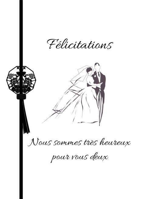 French Wedding Congratulations The Happy Couple Felicitations Card Ad Affiliate Congratulations W Wedding Congratulations French Wedding Happy Couple