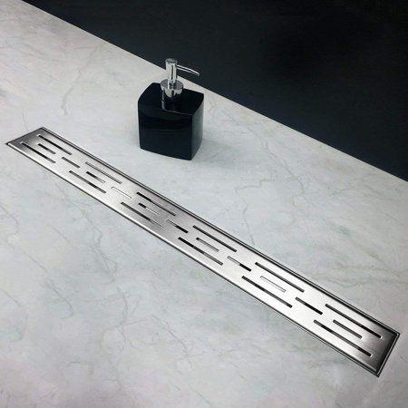 Neodrain 60 Inch Rectangular Linear Shower Drain With Brick