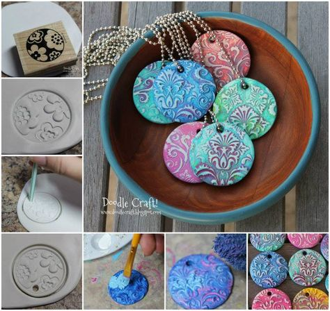 Easy+Polymer+Clay+Charms | Polymer Clay Pendants! They're easy to make from oven bake clay ...