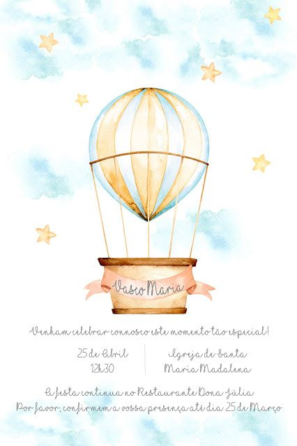 Convites Balão de Ar Quente | Hot Air Balloon Invitations