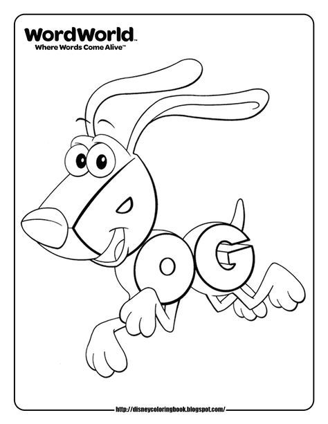 Word World Dog Coloring Pages Monster Coloring Pages Earth Day Coloring Pages Cute Coloring Pages