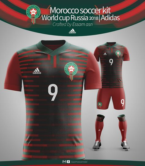 60da15a84 MOROCCO SOCCER KIT WORLD CUP RUSSIA 2018 ADIDAS CRAFTED on Behance ...