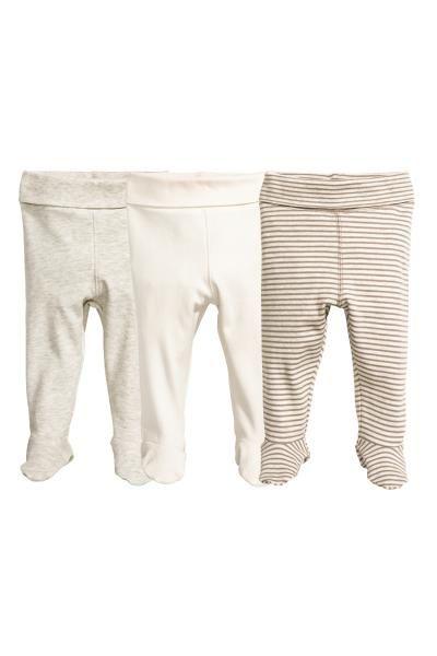 Pack De 3 Pantalones De Punto Topo Ninos H M Es Pantalones Bebe Ropa Para Bebe Ropa Neutra De Bebe