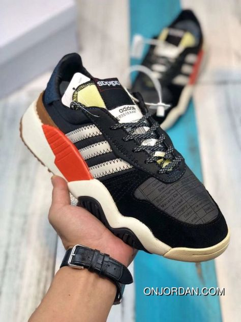 Adidas Alexander Wang AW Turnout Trainer AQ1237 Daddy Shoes Core Black    Chalk White   Bold df38d3e410