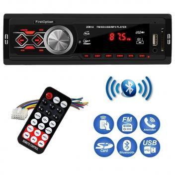Radio Automotivo Mp3 Com Porta Usb Sd Fm Com Bluetooth First