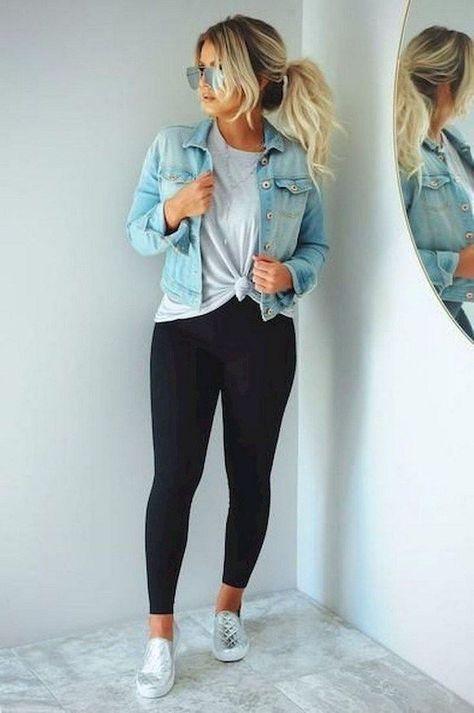 #denim #Elegant #Fall #ideas #Jeans #outfits 20+ Elegant Outfits Ideas With Denim Jeans For Fall 2019