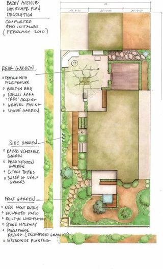 barry ave landscape plan 2 backyard ideas pinterest landscaping landscape designs and garden planning - Garden Design Birds Eye View