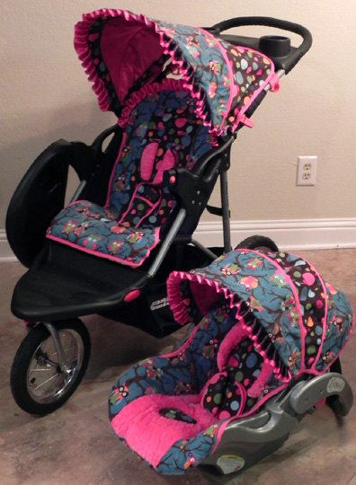 Custom Infant Cutie Owl Baby Trend Flex Loc Car Seat Cover And Matching Expedition LX Stroller Ready To Ship 25400 Via Etsy