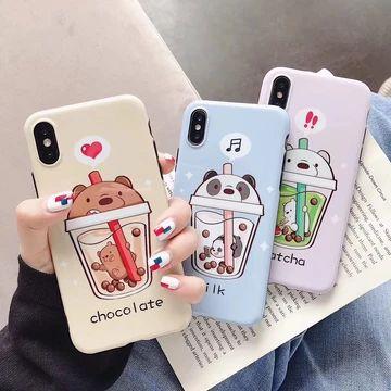 Bare Bears Boba 3d Iphone Case Kawaii Phone Case Phone Cases Iphone Cases
