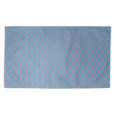 Latitude Run Avicia Wavy Stripe Red Area Rug Polyester In Blue Size 86 L X 63 W Wayfair In 2021 Purple Area Rugs Yellow Area Rugs Rug Size