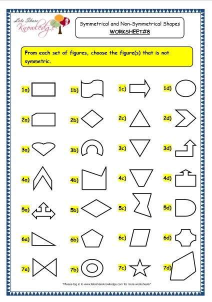 Shape Basics Congruent Shapes Geometry Worksheets 3rd Grade