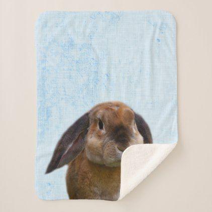 Pastel Blue Peekaboo Bunny Minimalist Nursery Sherpa Blanket Babyblankets Minimalist Nursery Gender Neutral Baby Blanket Sherpa Blanket