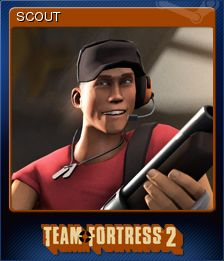 5856eb21b8d Steam Game Card Scout - Cromos de Steam - Official TF2 Wiki ...