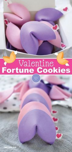 An easy candy free and non-food Valentine idea. Valentine fortune cookies are colorful paste-colored and perfect for a fun holiday snack! Learn how to make Valentine's Day fortune cookies today! #valentinesday #valentine #cookies #fortunecookies #dessert #recipe  An easy candy free and non-food Valentine idea. Valentine fortune cookies are colorful paste-colored and perfect for a fun holiday snack! Learn how to make Valentine's Day fortune cookies today! #valentinesday #valentine #cookies