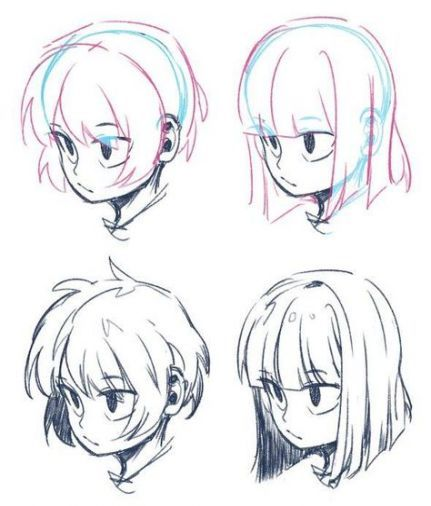 31 Ideas Drawing Hair Flowing Beautiful Drawings Manga Hair Art Reference Poses
