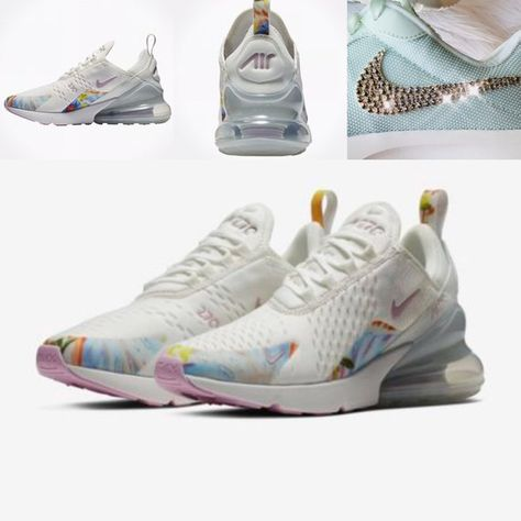 daef71232c5 Brand New Authentic Nike Air Max 270 Premium Floral Womens Running Training Shoes  with hundreds of Beautiful Swarovski Crystals perfectly placed by hand on  ...