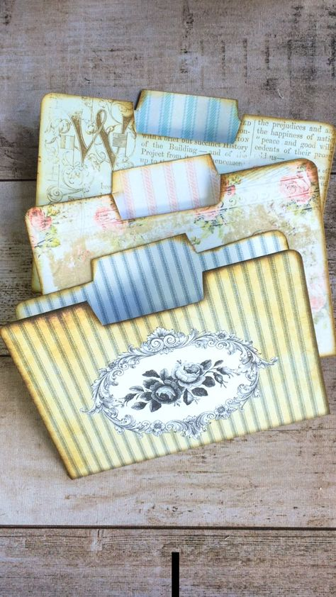 Idea for creating a sweet little mini folder insert for your junk journal. Get these printable Roses & Stripes Mini Folders from My Porch Prints on Etsy.