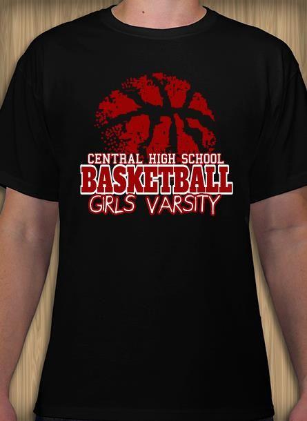 Girls Varsity Basketball T Shirt Design Idea And Template Make Custom Tees Online Basketball T Shirt Designs Shirt Template Basketball Design