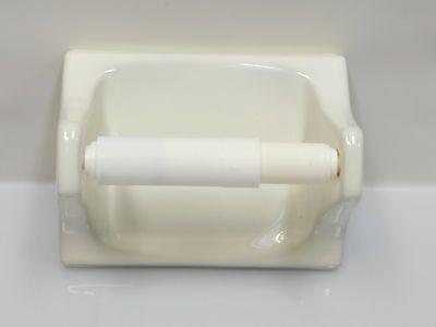 Details About New Bone White Ceramic Toilet Paper Holder Porcelain