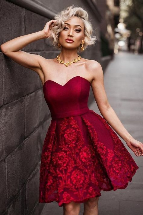 Fashion Prom Dress,Chic Sexy Evening Dress,Strapless Homecoming Dress,YY379 #Holidaypartydresses