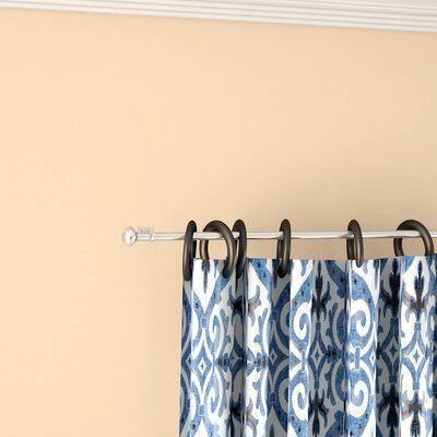 Alcott Hill Fiske Curtain Rod Set Length 48 84 W Finish Cocoa