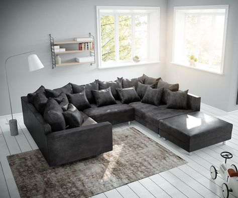 Couch Clovis Wohnlandschaft Modulsofa Design Sofa Wohnen Modul