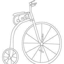 Old Bike Colouring Page Coloring Page Transportation Coloring