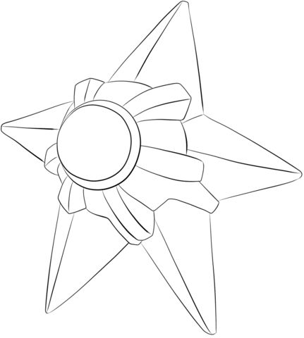 Staryu Coloring Page Coloring Pages Free Printable Coloring