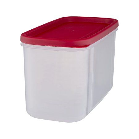 Large Food Storage Container Plastic Handle 40-Cup BPA Free Latch Airtight Lid